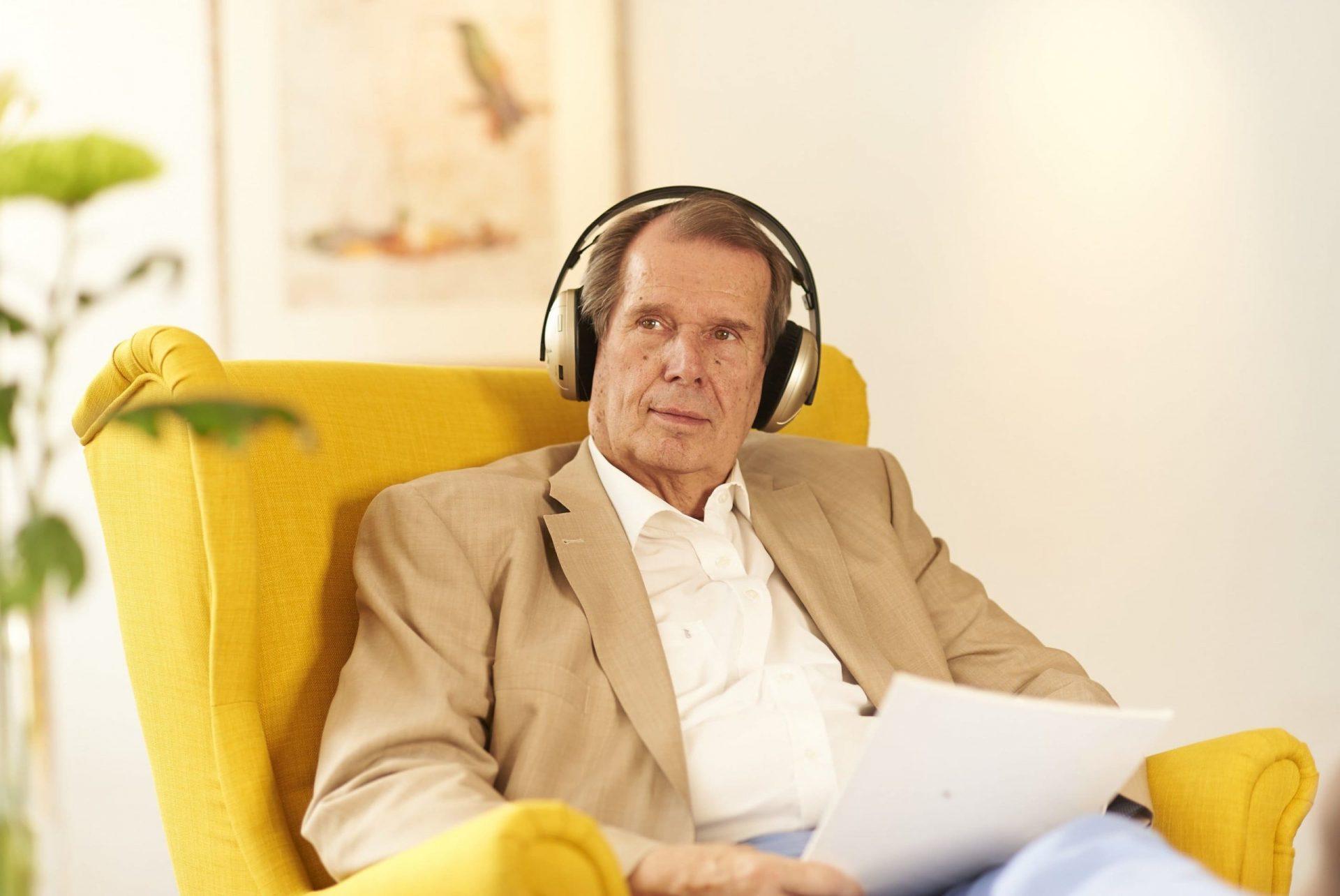 Große kabellose Kopfhörer